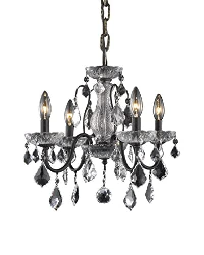 Crystal Lighting St. Francis 4-Light Chandelier, Dark Bronze