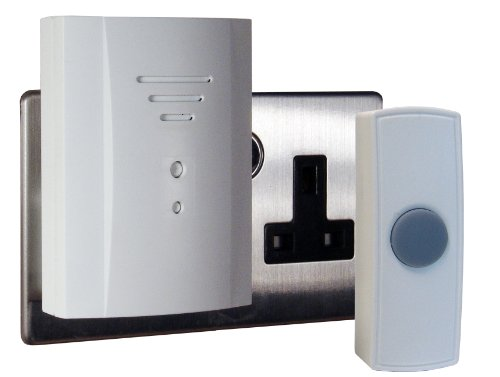 Byron B305 50m Wireless Plug-In Door Chime Kit with 2 Sounds