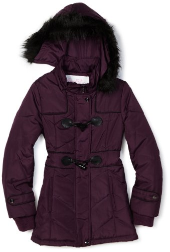 Jessica Simpson Coats Girls 7-16 Toggle Coat, Purple, Medium