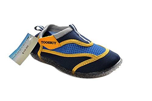 Air Cool Girls's Slip on Water Shoes Beach Aqua Black 19cm