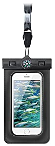 vau CoastGuard Extreme - wasserdichte Tasche / Hülle für Apple iPhone 5 / 5S, iPhone 4 /4S, sowie iPod touch (mit Kopfhörer-Lösung)