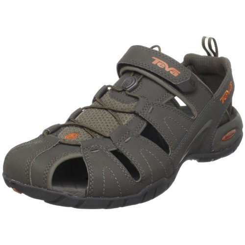 Teva Men'S Dozer Iii Closed Toe Sandal,Black Olive,12 M Us front-1070117