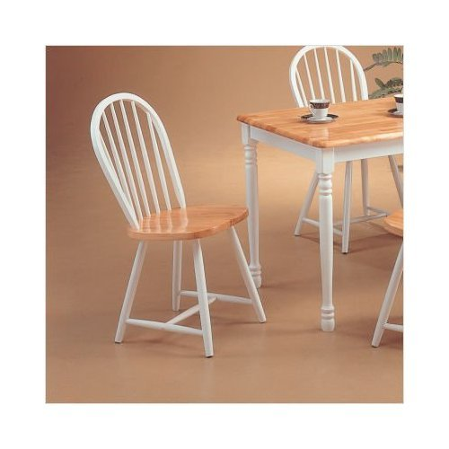 Coaster Home Furnishings 4129 Country Dining Chair (Set of 4), Natural and White