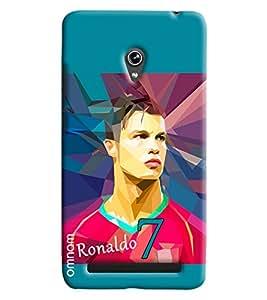 Omanm Ronaldo printed back cover Case for Zenfone 6 A600CG