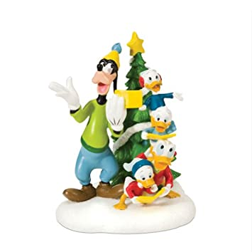 #!Cheap Department 56 Disney Village Accessory Figurine, Christmas Carols in Front of Tree