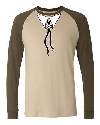 com: Bolo Necktie Mens Baseball Shirt, Funny Fake Western Cowboy Bolo