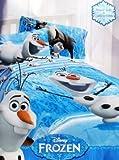 Disney Frozen Olaf Made of Snow Microfiber Reversible Comforter, Full