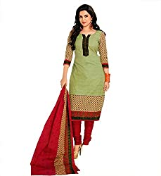 Sky Global Women's Poly CottonPrinted Unstitched Regular Wear Dress Material (SKY_513_Redmango)