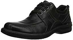 Clarks Men\'s Sherwin Limit Oxford,Black Tumbled Leather,11 M US