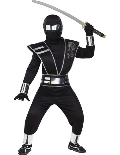 boys - Silver Mirror Ninja Child Costume Sm Halloween Costume