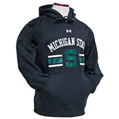 Under Armour Michigan State Spartans Adult 3 Bar Hooded Sweatshirt by Under Armour