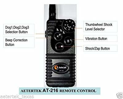 Aetertek New Version At-216:600 Yard Remote Dog Training Shock Collar Featuring Beep Warning, Strong Humane Vibration And Adjustable Shocks
