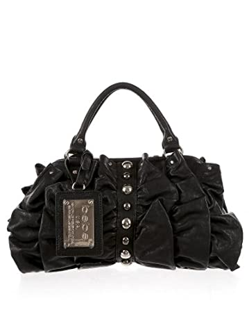 bebe Ruffle Studded Satchel from bebe.com