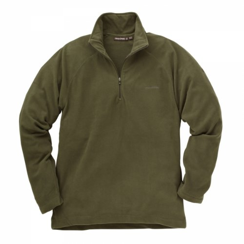 Craghoppers Mens Basecamp Microfleece Half Zip Jacket Dark Green L