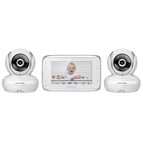 Motorola-MBP38S-2-Digital-Video-Baby-Monitor-with-43-Inch-Color-LCD-Screen-and-2-Cameras-with-Remote-Pan-Tilt-and-Zoom