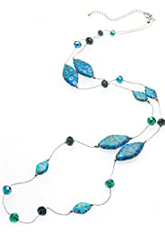 M&S Collection Crazy Diamond Multi-Faceted Bead Rope Necklace [T06-3601C-S]