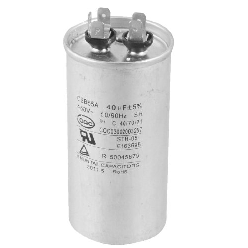 Cbb65A 450V Ac 50/60Hz 40Uf 5% Round Electric Motor Start Run Capacitor