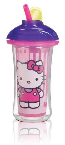 Munchkin Hello Kitty Click Lock Insulated Straw Cup, 9 Ounce