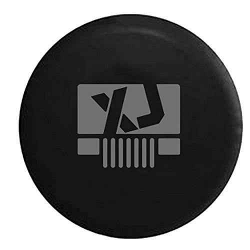 Stealth - Jeep Cherokee XJ Grill Lifted Offroad Spare Tire Cover OEM Vinyl Black 30-31 in (Xj Spare Tire compare prices)