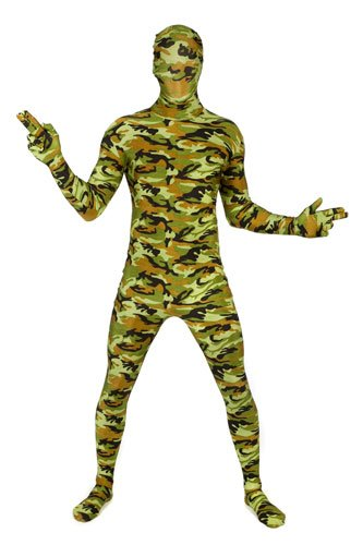 Dlx Army Combat Skintight Bodysuit Morphsuits Costume