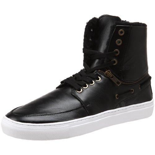 B0039IT5DI Creative Recreation Men's Capri High-Top Sneaker,Black/Shearling,10 M US