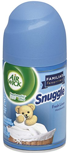 Air Wick Freshmatic Automatic Spray Air Freshener, Snuggle Fresh Linen Scent, 6.17 Ounce