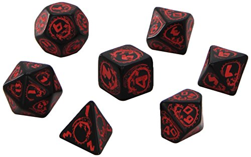 Dragon Dice Black/Red (7) Board Game