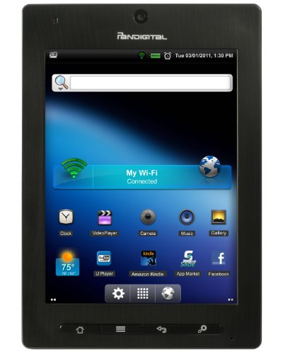 Pandigital Planet Android 2.2 2 GB 7-Inch Multimedia Tablet and Color eReader with Kindle, R70A200FR (Black)