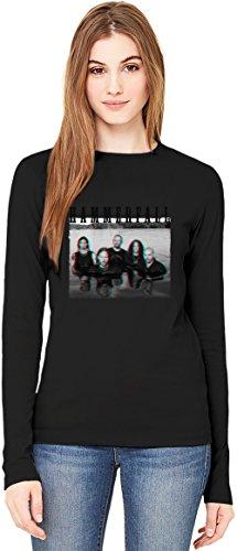 HammerFall In 3D T-Shirt da Donna a Maniche Lunghe Long-Sleeve T-shirt For Women| 100% Premium Cotton Ultimate Comfort X-Large