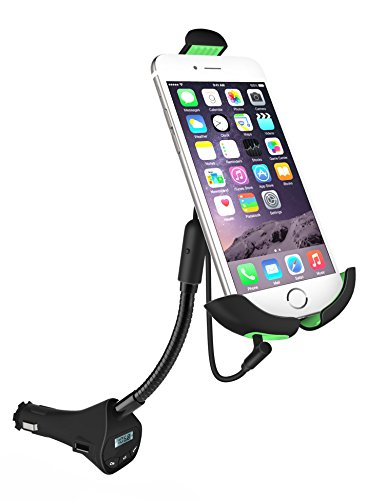 Car Charger Mount,SOWTECH(TM) Universal 3 in 1 Car Dock Station Mount, USB Charger, FM Transmitter for iPhone 6s Plus/6/5S/5, Samsung Galaxy S6, HTC