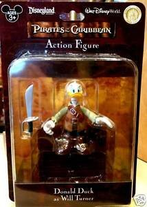 Buy Low Price Disney Retired Disney Pirates of the Caribbean Donald Duck as Will Turner Action Figure Doll New in Box (B004U3YL8A)