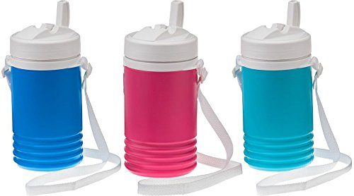 THREE Igloo Legend 1 Qt Beverage Coolers BLUE, PINK & LIGHT BLUE (Igloo Cooler Pink compare prices)