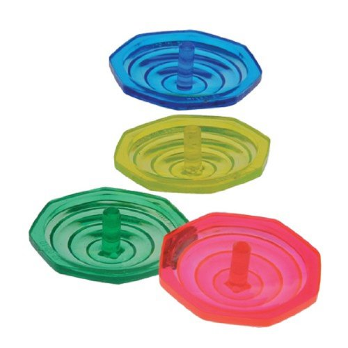 Set Of 48 Plastic Mini Spinning Tops - 1