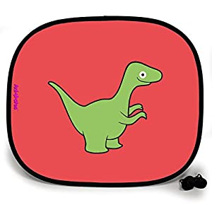 123t ANI-MATES DINO VELOCIRAPTOR PLAIN Baby/Child Vehicle Sunshade x 1