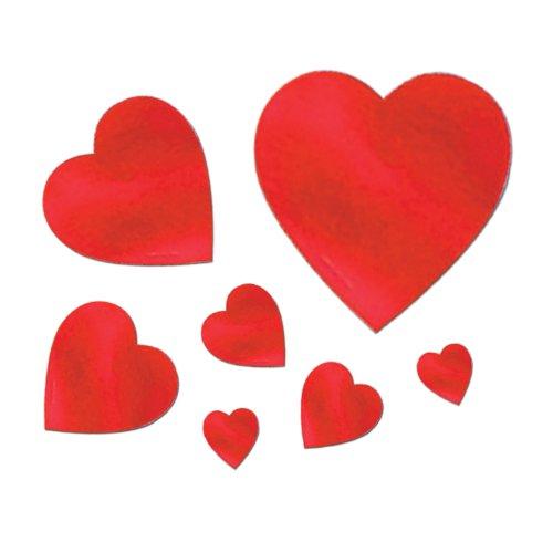 Pkgd Foil Heart Cutouts   (40/Pkg)