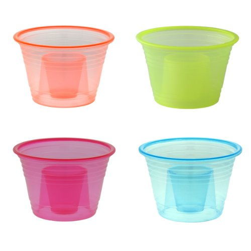 100-assorted Colors Disposable Plastic Party Bomber / Power Bomber / Jager Bomb / Shot Glass / Shot Cup / Cups