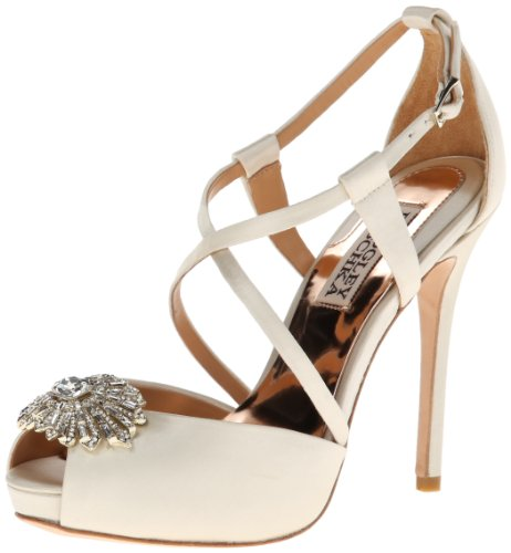Badgley Mischka Women's Hilary Dress Pump,Ivory,6 M US