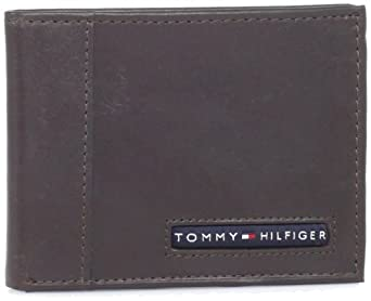 Tommy Hilfiger  Men's Cambridge Slim Billfold,Brown,One Size