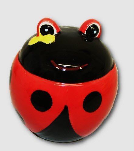 Ceramic Colorful Ladybug Bank - 1
