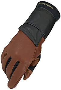Heritage Pro 8.0 Bull Riding Glove (Saddle Brown), Left Hand, Size 7