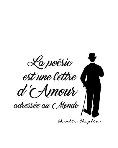 ZZ-Ambiance-sticker Vinilo Decorativo French Quote Charlie Chaplin