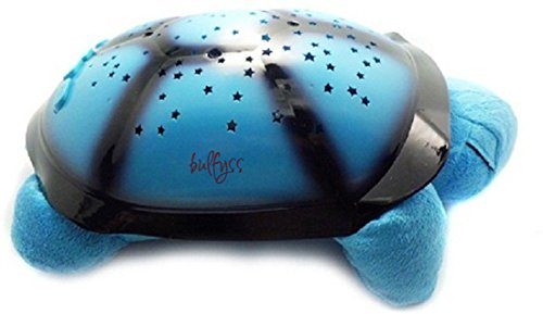 BULFYSS-Turtle Night Sky Constellations Projector Lamp, Plush Toy - Put your Little Ones to Sleep with Lights and Music