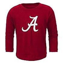 NCAA Alabama Crimson Tide Primary Logo RP Long Sleeve Tee, 3 Tall, Victory Red