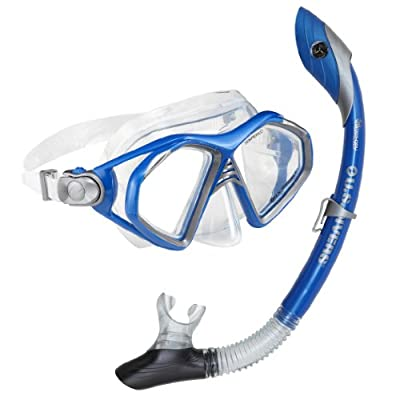 U.S. Divers Admiral LX, Island Dry Adult Premium Snorkeling Combo