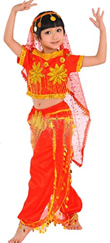 Children Sinkiang Indian Belly Dance Dress National Costumes
