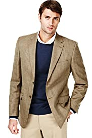 Sartorial Pure New Wool 2 Button Herringbone Jacket