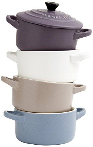 Le-Creuset-91006900469000-Coffret-4-Mini-Cocottes-Cramique-Mate--Croquer