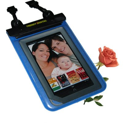TrendyDigital WaterGuard Plus Waterproof Case with Padding for the NOOKcolor eBook Reader from Barnes & Noble, Blue
