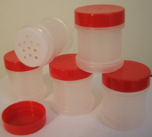 Qty 20 - 1 Oz Plastic Spice Jars  Sifter and