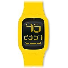 Swatch Unisex SURJ101 Plastic Digital Dial Watch